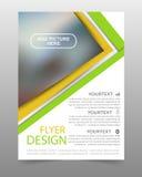 Πράσινο και κίτρινο πρότυπο σχεδίου ιπτάμενων επιχειρησιακών φυλλάδιων Στοκ Φωτογραφίες