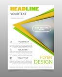 Πράσινο και κίτρινο πρότυπο σχεδίου ιπτάμενων επιχειρησιακών φυλλάδιων Στοκ φωτογραφίες με δικαίωμα ελεύθερης χρήσης
