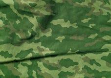Πράσινο και καφετί σχέδιο υφασμάτων camoufklage χρώματος Στοκ Εικόνες