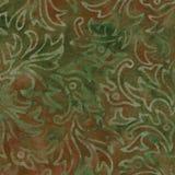 Πράσινο και καφετί σχέδιο μπατίκ Στοκ Εικόνες