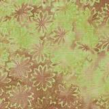 Πράσινο και καφετί υπόβαθρο μπατίκ Στοκ Εικόνες