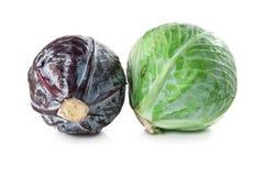 Πράσινο και κόκκινο λάχανο στοκ φωτογραφίες
