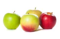 Πράσινο και κόκκινο μήλο, στο άσπρο υπόβαθρο Στοκ Φωτογραφίες