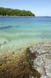Πράσινο και μπλε ύδωρ Huron της λίμνης Στοκ Φωτογραφίες