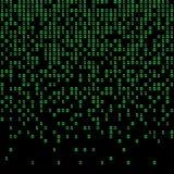 Πράσινο και σκοτεινό υπόβαθρο δυαδικού κώδικα, ψηφία στην οθόνη απεικόνιση αποθεμάτων
