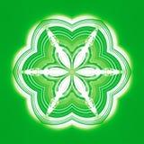 Πράσινο καλειδοσκόπιο συμμετρίας υποβάθρου σχεδίων r απεικόνιση αποθεμάτων