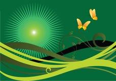 πράσινο καλοκαίρι Διανυσματική απεικόνιση