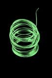 πράσινο καλώδιο θρυαλλίδων Στοκ Φωτογραφία