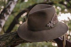 Πράσινο καπέλο κυνηγιού Στοκ Εικόνες