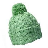 πράσινο καπέλο μάλλινο Στοκ Εικόνες