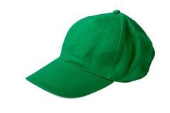 Πράσινο καπέλο του μπέιζμπολ Στοκ Εικόνες