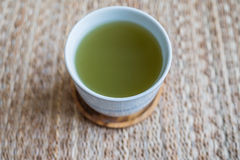 πράσινο καυτό τσάι Στοκ φωτογραφία με δικαίωμα ελεύθερης χρήσης