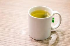 πράσινο καυτό τσάι Στοκ Φωτογραφία