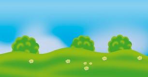 πράσινο καλοκαίρι ανασκόπησης ελεύθερη απεικόνιση δικαιώματος
