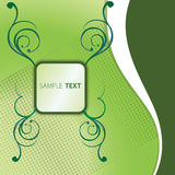 πράσινο κείμενο κιβωτίων Στοκ Εικόνα
