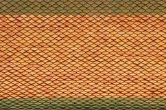 Πράσινο κεραμίδι στεγών Στοκ φωτογραφίες με δικαίωμα ελεύθερης χρήσης