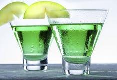 Πράσινο κοκτέιλ της Apple Martini Στοκ εικόνες με δικαίωμα ελεύθερης χρήσης
