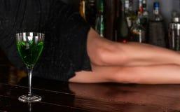 Πράσινο κοκτέιλ Στοκ εικόνες με δικαίωμα ελεύθερης χρήσης