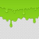 Πράσινο κολλώδες υγρό άνευ ραφής στοιχείο ελεύθερη απεικόνιση δικαιώματος