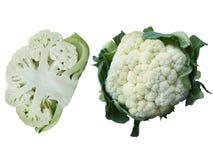 Πράσινο κουνουπίδι λάχανων περικοπών που απομονώνεται στο άσπρο υπόβαθρο στοκ εικόνες
