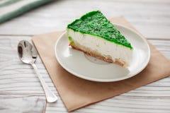 Πράσινο κουτάλι κέικ Στοκ Φωτογραφίες