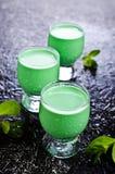 Πράσινο κρεμώδες υγρό Στοκ φωτογραφία με δικαίωμα ελεύθερης χρήσης