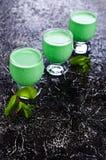 Πράσινο κρεμώδες υγρό Στοκ φωτογραφίες με δικαίωμα ελεύθερης χρήσης