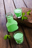 Πράσινο κρεμώδες υγρό Στοκ Εικόνα