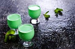 Πράσινο κρεμώδες υγρό Στοκ Εικόνες