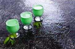Πράσινο κρεμώδες υγρό Στοκ Φωτογραφίες