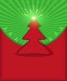 πράσινο κόκκινο δέντρο αστ Στοκ Εικόνες