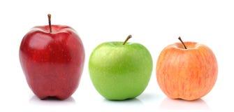 πράσινο κόκκινο λευκό ανασκόπησης μήλων Στοκ φωτογραφίες με δικαίωμα ελεύθερης χρήσης