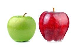 πράσινο κόκκινο λευκό ανασκόπησης μήλων Στοκ Εικόνες