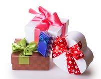 Πράσινο κόκκινο κιβωτίων δώρων Στοκ Εικόνα