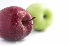 πράσινο κόκκινο λευκό ανασκόπησης μήλων Στοκ φωτογραφία με δικαίωμα ελεύθερης χρήσης