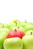 πράσινο κόκκινο μήλων μήλων Στοκ φωτογραφίες με δικαίωμα ελεύθερης χρήσης
