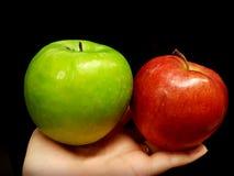 πράσινο κόκκινο μήλων Στοκ εικόνες με δικαίωμα ελεύθερης χρήσης