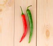 πράσινο κόκκινο πιπεριών τσίλι Στοκ φωτογραφίες με δικαίωμα ελεύθερης χρήσης