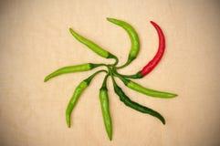 πράσινο κόκκινο πιπεριών Στοκ Εικόνα