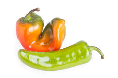 πράσινο κόκκινο πιπεριών Στοκ εικόνα με δικαίωμα ελεύθερης χρήσης