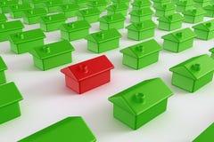 πράσινο κόκκινο σπιτιών ελεύθερη απεικόνιση δικαιώματος