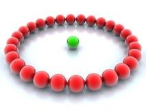 πράσινο κόκκινο σφαιρών απεικόνιση αποθεμάτων