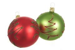 πράσινο κόκκινο Χριστου&gamm Στοκ Εικόνες
