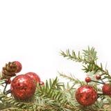 πράσινο κόκκινο Χριστου&gamm Στοκ Φωτογραφία