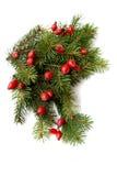 πράσινο κόκκινο Χριστου&gamm Στοκ εικόνα με δικαίωμα ελεύθερης χρήσης