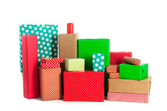πράσινο κόκκινο δώρων Στοκ Εικόνα