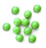πράσινο λευκό σφαιρών στοκ φωτογραφία