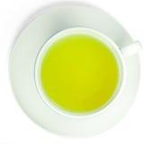 πράσινο λευκό τσαγιού φλ&u Στοκ Εικόνες