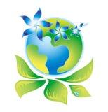 πράσινο λογότυπο οικολ& Στοκ Εικόνες