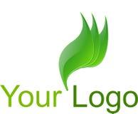 Πράσινο λογότυπο Στοκ Εικόνες